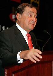 Co-promoter Bob Arum at the press conference announcing the upcoming fight between IBF Welterweight Champion Zab Judah and Floyd Mayweather.  The fight will take place on April 8, 2006 in Las Vegas.