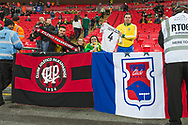 Brazilian fans pose with their club colours ahead of the international friendly match between England and Brazil at Wembley Stadium, London, England on 14 November 2017. Photo by Darren Musgrove.