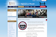Website screen-shot of Help for Heroes featuring commercial photography by Christopher Ison. <br /> Picture date: Monday April 25, 2016.<br /> Photograph by Christopher Ison &copy;<br /> 07544044177<br /> chris@christopherison.com<br /> www.christopherison.com