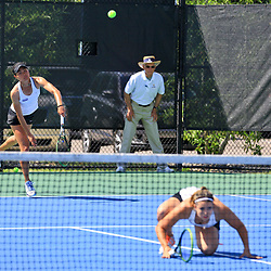 During the championship round of the Sun Belt Tennis Tournament at the City Park Tennis Center on Sunday, April 24, 2016. Photo by: Derick E. Hingle for Sun Belt