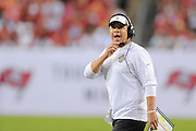 New Orleans Saints head coach Sean Payton during the Saints 16-14 win over the Tampa Bay Buccaneers at Raymond James Stadium on Sept. 15, 2013 in Tampa, Florida. <br /> &copy;2013 Scott A. Miller