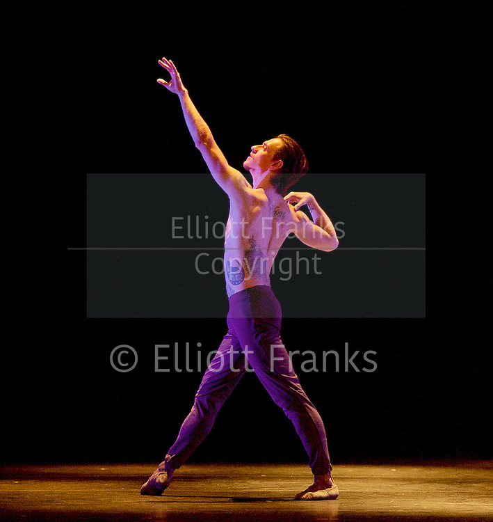 Natalia Osipova <br /> Triple Bill <br /> at Sadler's Wells, London, Great Britain <br /> rehearsal <br /> 28th June 2016 <br /> <br /> Silent Echo <br /> by Russell Maliphant <br /> Sergei Polunin <br /> <br /> <br /> <br /> Photograph by Elliott Franks <br /> Image licensed to Elliott Franks Photography Services