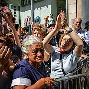 CENTENAS DE MILHAR DE PESSOAS ASSISTE AO CORTEJO FÚNEBRE DE ÁLVARO CUNHAL, LISBOA, 15 DE JUNHO DE 2005