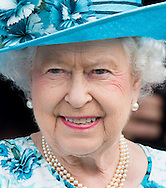 Queen Elizabeth II and Prince Philip, Duke of Edinburgh visit the Broadway Theatre in Barking