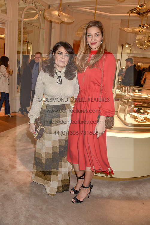 Daniella Helayel and Ana Beatriz Barros at the reopening of the Cartier Boutique, New Bond Street, London, England. 31 January 2019. <br /> <br /> ***For fees please contact us prior to publication***