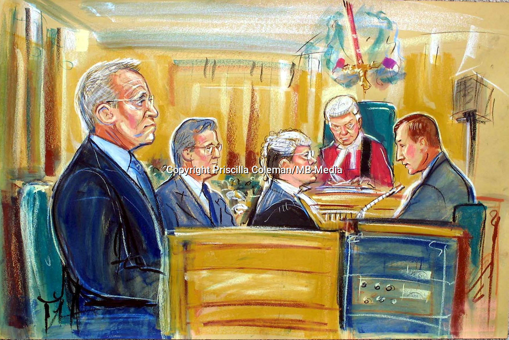 ©PRISCILLA COLEMAN (ITN ARTIST).PIC SHOWS: ARTIST IMPRESSION OF JEFFREY ARCHER IN COURT TODAY 18.06.01.