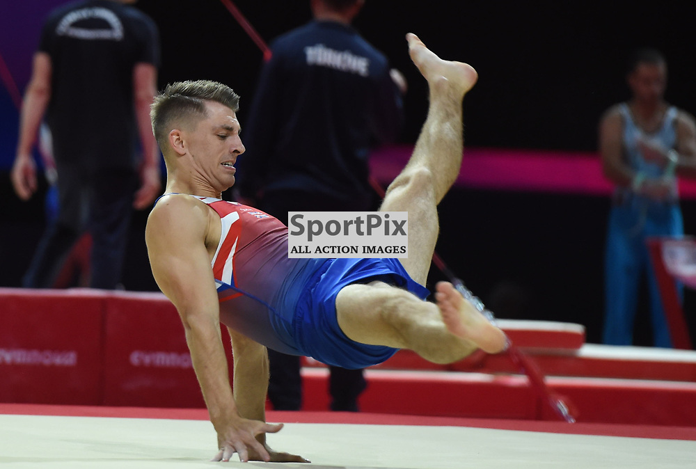 Max Whitlock of Great Britain in action during training for the Men's Artistic Gymnastics, European Championships, The Hydro, Glasgow, Scotland, Tuesday 07 August 2018, (c) Angie Isac | SportPix.org.uk