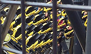 Alton Towers crash: four seriously hurt as Smiler rollercoaster carriages collide<br /> <br /> Witness describes passengers suspended in the air screaming for help after accident involving two carriages on Smiler attraction<br /> Four teenagers have been seriously injured in a collision between two carriages on a high-speed rollercoaster at Alton Towers amusement park.<br /> <br /> The crash occurred on the two-year-old Smiler attraction on Tuesday afternoon, West Midlands ambulance service said. The accident involved two carriages – one containing 16 guests and the other empty – which came together on a low section of the track.<br /> ©Exclusivepix Media