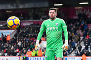 Ben Foster (1) of West Bromwich Albion during the Premier League match between Bournemouth and West Bromwich Albion at the Vitality Stadium, Bournemouth, England on 17 March 2018. Picture by Graham Hunt.