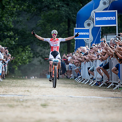 APELDOORN (NED) NK Mountainbike <br />Mathieu van der Poel pakt zijn derde nationale titel in zeven maanden. Veldrijden, weg, Mountainbike