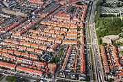 Nederland, Zuid-Holland, Katwijk, 15-07-2012; Katwijk de buurten Overduin en Koestal, rechts de Parklaan...Residential areas of the fishing village of Katwijk (West Netherlands).luchtfoto (toeslag), aerial photo (additional fee required).foto/photo Siebe Swart