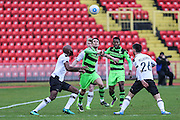 Forest Green Rovers Christian Doidge(9) trys to gain possession  during the Vanarama National League match between Gateshead and Forest Green Rovers at Gateshead International Stadium, Gateshead, United Kingdom on 18 February 2017. Photo by Shane Healey.