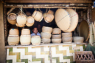 Bamboo Handicraft Shop in Ban Don Northern Laos South East Asia