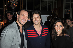 Left to right, JASON GARDINER, ADAM GARCIA and DIANA VERVENIETO at a party to celebrate the publication of her new book - Kelly Hoppen: Ideas, held at Beach Blanket Babylon, 45 Ledbury Road, London W11 on 4th April 2011.