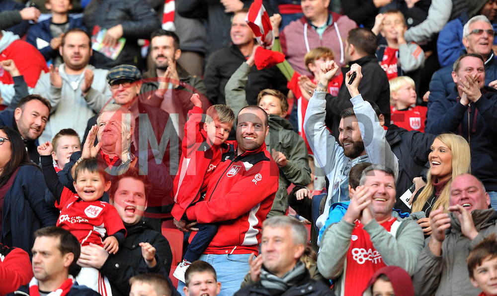 Bristol City supporters celebrate Aaron Wilbraham's goal - Mandatory by-line: Paul Knight/JMP - 22/10/2016 - FOOTBALL - Ashton Gate Stadium - Bristol, England - Bristol City v Blackburn Rovers - Sky Bet Championship