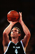 Sean Marks during the Men's basketball match between the New Zealand Tall Blacks and France at the Olympics in Sydney, Australia on 17 September, 2000. Photo: PHOTOSPORT<br />