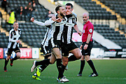 Notts County's Jorge Grant(10) celebrates after scoring the opening goal during the EFL Sky Bet League 2 match between Notts County and Stevenage at Meadow Lane, Nottingham, England on 24 February 2018. Picture by Nigel Cole.