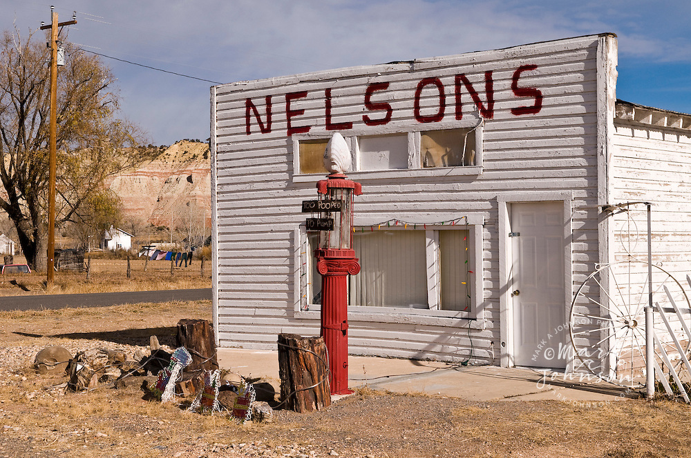 Nelson's gas station, Cannonville, Utah