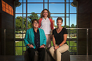 Cindy Anderson, left, Nancy Sandler, center, and Michelle O'Malley, right, at the Ohio University Living Learning Center on August 22, 2016.