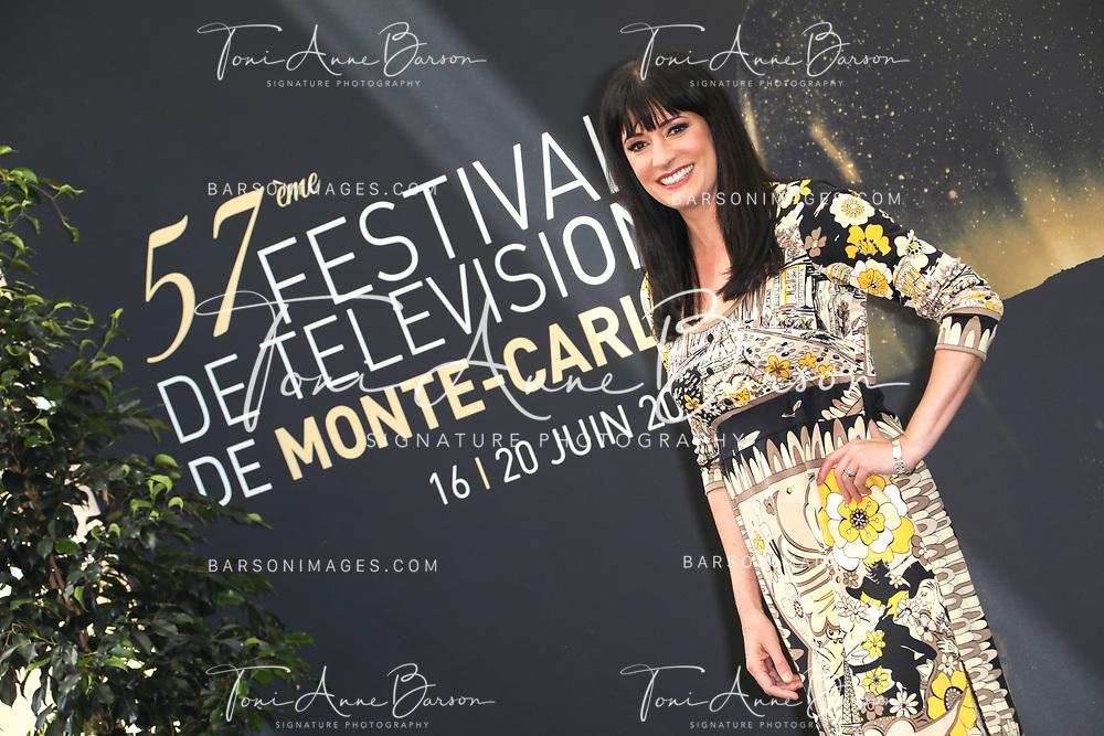 "MONTE-CARLO, MONACO - JUNE 19:  Paget Brewster attends ""Criminal Minds"" photocall on June 19, 2017 at the Grimaldi Forum in Monte-Carlo, Monaco.  (Photo by Tony Barson/FilmMagic)"