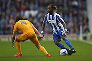 Brighton & Hove Albion full back Gaetan Bong (3) during the EFL Sky Bet Championship match between Brighton and Hove Albion and Preston North End at the American Express Community Stadium, Brighton and Hove, England on 15 October 2016.