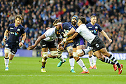 Scotland consistently won the midfield battle during the 2018 Autumn Test match between Scotland and Fiji at Murrayfield, Edinburgh, Scotland on 10 November 2018.
