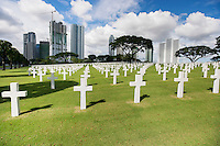 The American Memorial Cemetery with buildings in background; Manila; Philippines