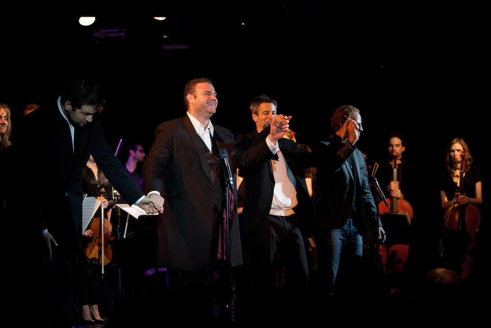 Tenor Joseph Calleja with Luca Pisaroni, Daniel Hope at Le Poisson Rouge on October 24, 2011.