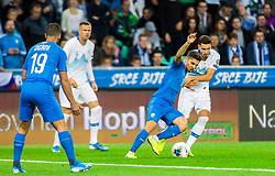 Manor Solomon of Israel vs Petar Stojanović of Slovenia during the 2020 UEFA European Championships group G qualifying match between Slovenia and Israel at SRC Stozice on September 9, 2019 in Ljubljana, Slovenia. Photo by Ziga Zupan / Sportida