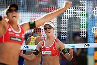 Volleyball Sandvolleyball Beachvolleyball<br />Swatch FIVB World Tour Conoco Phillips Grand Slam<br />Stavanger 270608<br />Foto: Sigbjørn Andreas Hofsmo, Digitalsport<br /><br />Nila Haakedal Hakedal Håkedal - Ingrid Torlen Tørlen