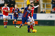 Bradford City forward Shay McCartan (14) in action  during the EFL Sky Bet League 1 match between Rotherham United and Bradford City at the AESSEAL New York Stadium, Rotherham, England on 23 January 2018. Photo by Simon Davies.