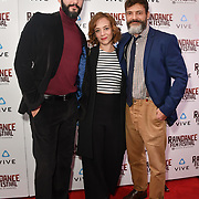 Dejan Bucin, Sara Lazzaro and Niccolo Cancellieri  actor attends the Raindance Film Festival - VR Awards, London, UK. 6 October 2018.