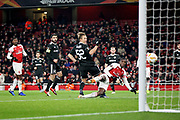 Arsenal's Eddie Nketiah (49) sees this effort ruled offside during the Europa League group stage match between Arsenal and FK QARABAG at the Emirates Stadium, London, England on 13 December 2018.