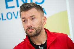 Michal Przysiezny during press conference of Polish Men Davis Cup team before tournament against Slovenia, on January 30, 2018 in Hotel Maribor, Maribor, Slovenia. Photo by Vid Ponikvar / Sportida
