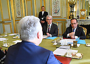 Paris: President Hollande Receives Quebec Premier Couillard, 23 Nov. 2016