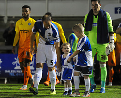 Mascots walk out - Mandatory byline: Dougie Allward/JMP - 07966 386802 - 06/10/2015 - FOOTBALL - Memorial Stadium - Bristol, England - Bristol Rovers v Wycombe Wanderers - JPT Trophy