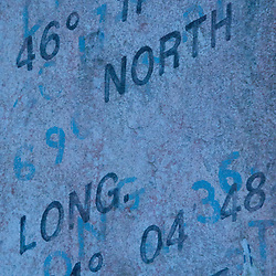 Location Inscription on North Head Lighthouse, Ilwaco, Washington, US