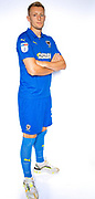AFC Wimbledon forward Joe Pigott (39) during the official team photocall for AFC Wimbledon at the Cherry Red Records Stadium, Kingston, England on 8 August 2019.