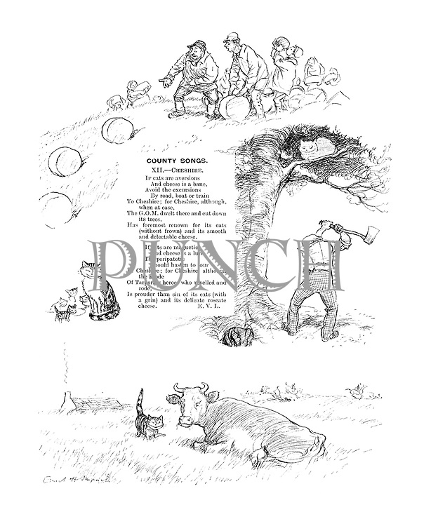 County Songs. XII.—Cheshire. (Illustrated poem)