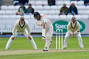 Alex Davies of Lancashire plays an attacking shot during the Specsavers County Champ Div 1 match between Somerset County Cricket Club and Lancashire County Cricket Club at the Cooper Associates County Ground, Taunton, United Kingdom on 14 September 2017. Photo by Graham Hunt.