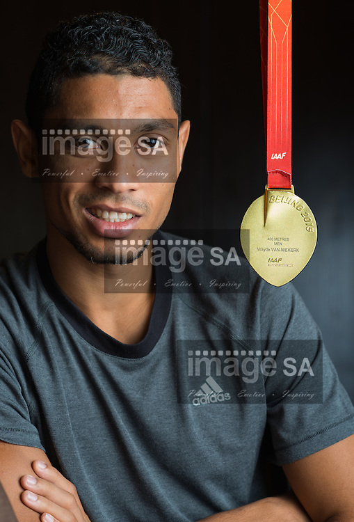 BLOEMFONTEIN, SOUTH AFRICA - Friday 2 October 2015: Feature images with Wayde van Niekerk of South AFrica, IAAF World Champion in the mens 400m at his home. (Photo by Roger Sedres)