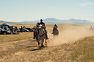 Fort Belknap Indian Reservation, Milk River Memorial Horse Races, Men Two Mile Race, winner, Nolan Werk, Gros Ventre. .