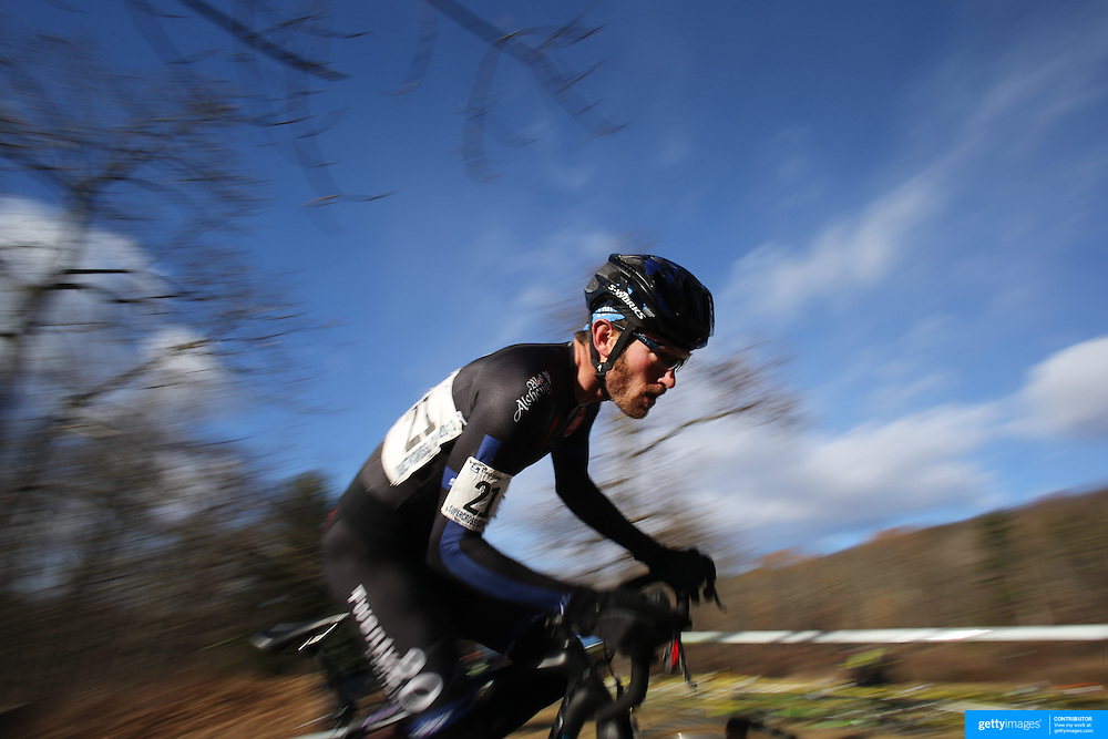 Greg Wittwer in action during the Cyclo-Cross, Supercross Cup 2013 UCI Weekend at the Anthony Wayne Recreation Area, Stony Point, New York. USA. 24th November 2013. Photo Tim Clayton