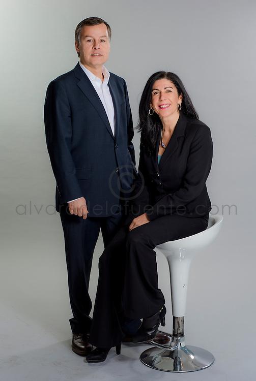 Julio Henriquez y Marcela Bravo, Gerentes de la Asociación Chilena de Seguridad ACHS. Santiago de Chile, 24-04-2015. (©Alvaro de la Fuente/Triple.cl)