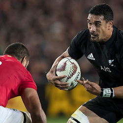 Jerome Kaino during game 9 of the British and Irish Lions 2017 Tour of New Zealand, the second Test match between  The All Blacks and British and Irish Lions, Westpac Stadium, Wellington, Saturday 1st July 2017<br /> (Photo by Kevin Booth Steve Haag Sports)<br /> <br /> Images for social media must have consent from Steve Haag