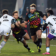Parma - Stadio Lanfranchi  01/06/2018<br /> Guinness Pro14<br /> Zebre vs Glasgow Warriors<br /> <br /> Giulio Bisegni  placcato da Huw Jones