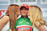 Sykkel<br /> Tour of Norway 2014<br /> Foto: Mario Stiehl/imago/Digitalsport<br /> NORWAY ONLY<br /> <br /> 25.05.2014<br /> Alexander KRISTOFF ( NOR / Team Katusha Katjuscha ) gewinnt das grüne Trikot des Fahrers mit den meisten Punkten<br /> <br /> Stage 5 Gjøvik til Hønefoss