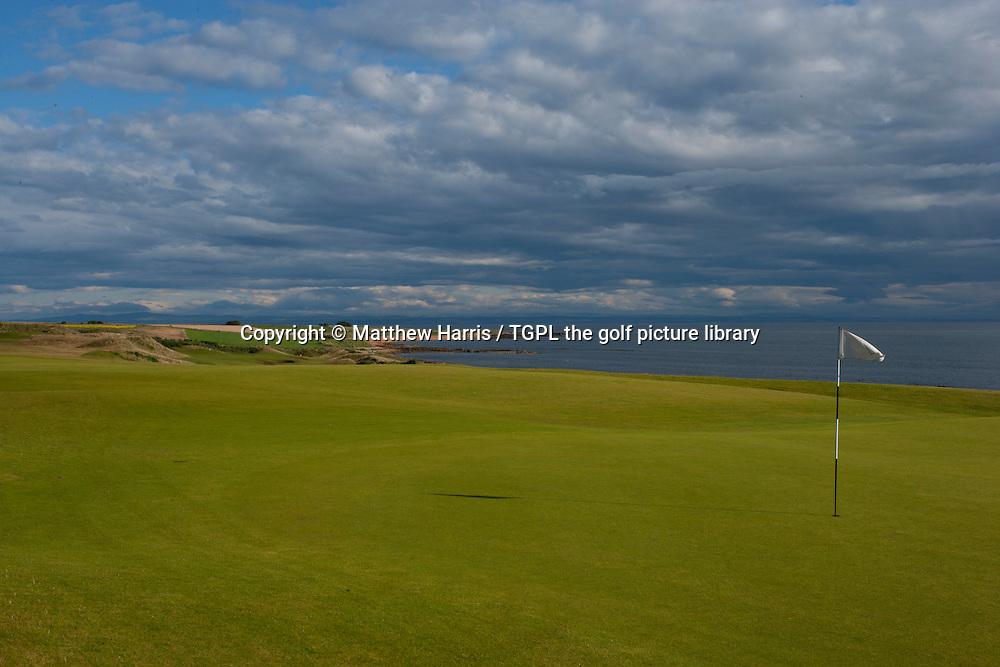 4th par 4 at Kingsbarns Golf Links during summer ,Kingsbarns,Fife,Scotland.
