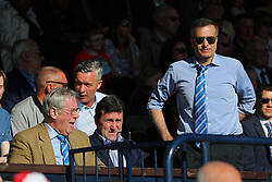Steve Hamer (left) chairman, Tommy Widdrington new head of recruitment (centre) and Wael Al-Qadi (right) president of Bristol Rovers FC   - Mandatory by-line: Richard Calver/JMP - 05/05/2018 - FOOTBALL - Roots Hall - Southend-on-Sea, England - Southend United v Bristol Rovers - Sky Bet League One