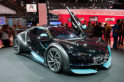 Citroen Survolt electric sports car at  car at Paris Motor Show 2010